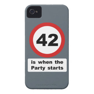 42 is when the Party Starts Case-Mate iPhone 4 Case