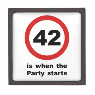 42 is when the Party Starts Keepsake Box