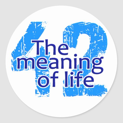 42 Meaning of Life stickers, customizable Classic Round Sticker