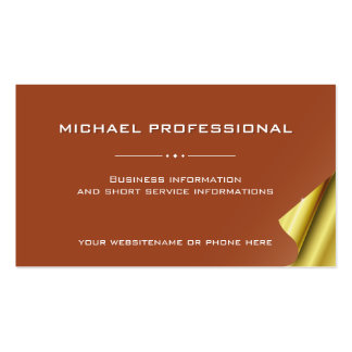 42 Modern Professional Business Card brown gold