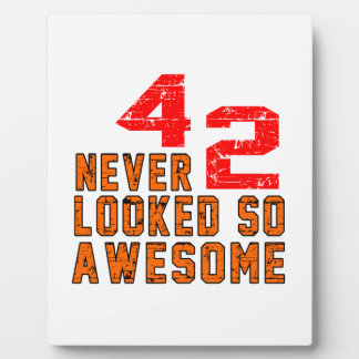 42 never looked so awesome photo plaques