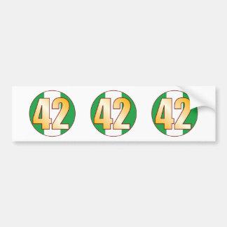 42 NIGERIA Gold Bumper Sticker
