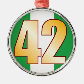 42 NIGERIA Gold Metal Ornament
