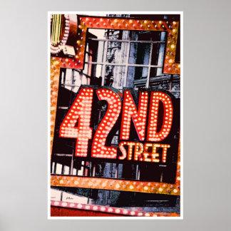 42.o Calle, poster contemporáneo