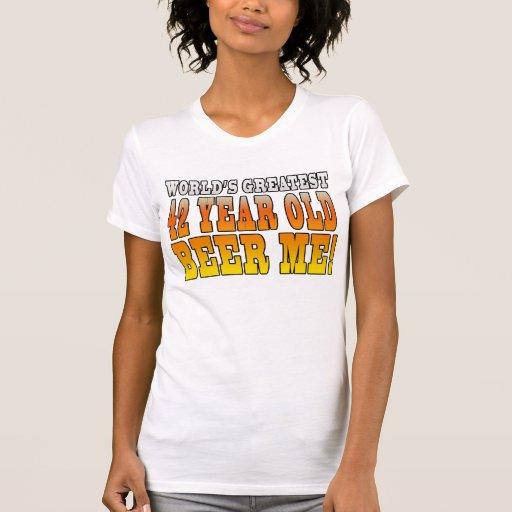 42.os cumpleaños divertidos: Años más grandes de l Camiseta