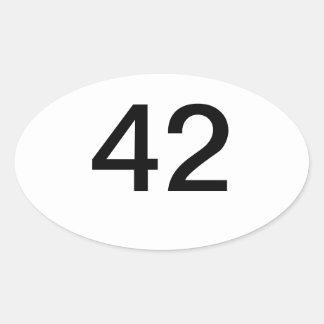 42 OVAL STICKER