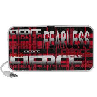 42.Red y feroz audaz de la tela escocesa negra iPhone Altavoces