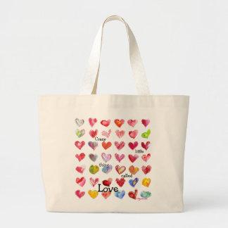 42 Valentine Hearts Tote Bag