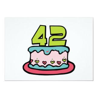 42 Year Old Birthday Cake Card