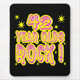42 Year Olds Rock! (Pink) Mousepad