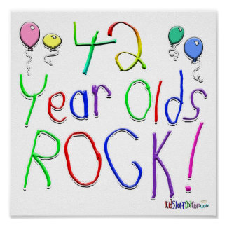 42 Year Olds Rock ! Print