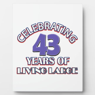 42 years of living large birthday designs display plaques