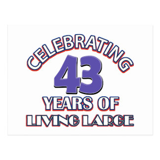 42 years of living large birthday designs postcard