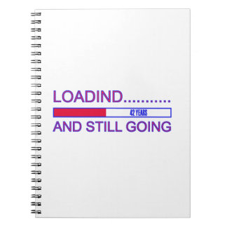 42 YEARS OLD BIRTHDAY DESIGNS NOTEBOOK