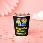 [ Thumbnail: 42nd Birthday: Colorful, Fun, Exciting, Rainbow 42 ]