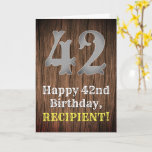 [ Thumbnail: 42nd Birthday: Country Western Inspired Look, Name Card ]