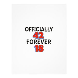 42nd birthday designs letterhead