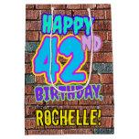 [ Thumbnail: 42nd Birthday: Fun, Urban Graffiti Inspired Look Gift Bag ]