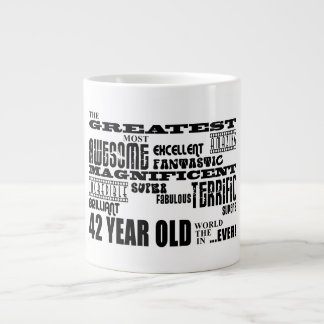 42nd Birthday Party Greatest Forty Two Year Old Large Coffee Mug