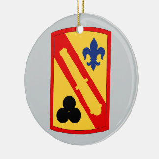 42nd Field Artillery Brigade Double-Sided Ceramic Round Christmas Ornament