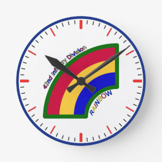 42nd Infantry Division Round Wall Clock