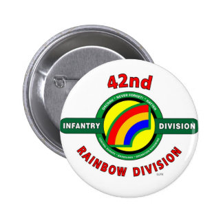 "42ND INFANTRY DIVISION ""RAINBOW"" 2 INCH ROUND BUTTON"
