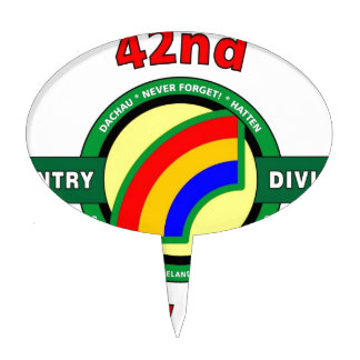 """42ND INFANTRY DIVISION """"RAINBOW"""" CAKE PICK"""