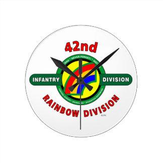 "42ND INFANTRY DIVISION ""RAINBOW"" CLOCKS"