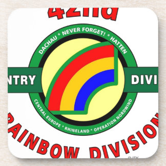 """42ND INFANTRY DIVISION """"RAINBOW"""" BEVERAGE COASTER"""