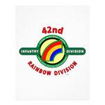 "42ND INFANTRY DIVISION ""RAINBOW"" CUSTOM LETTERHEAD"