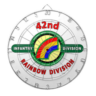 """42ND INFANTRY DIVISION """"RAINBOW"""" DARTBOARDS"""