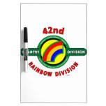"""42ND INFANTRY DIVISION """"RAINBOW"""" DRY ERASE WHITE BOARD"""