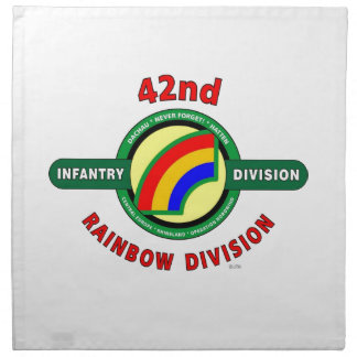"""42ND INFANTRY DIVISION """"RAINBOW"""" NAPKIN"""