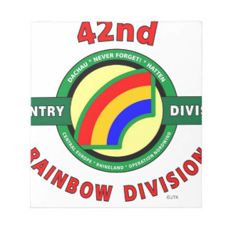 """42ND INFANTRY DIVISION """"RAINBOW"""" NOTEPADS"""