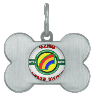 "42ND INFANTRY DIVISION ""RAINBOW"" PET ID TAGS"