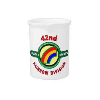 """42ND INFANTRY DIVISION """"RAINBOW"""" DRINK PITCHERS"""