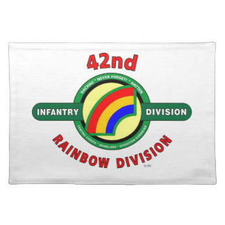 """42ND INFANTRY DIVISION """"RAINBOW"""" PLACE MAT"""