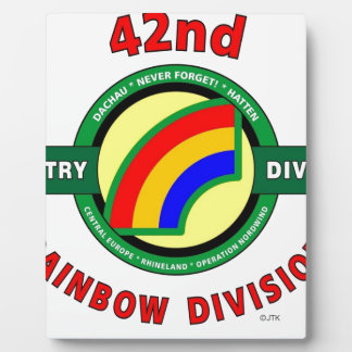 """42ND INFANTRY DIVISION """"RAINBOW"""" PHOTO PLAQUE"""