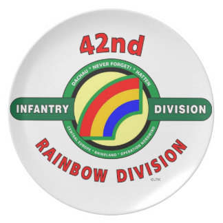 """42ND INFANTRY DIVISION """"RAINBOW"""" PLATE"""