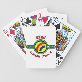 """42ND INFANTRY DIVISION """"RAINBOW"""" BICYCLE POKER DECK"""