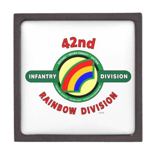 "42ND INFANTRY DIVISION ""RAINBOW"" PREMIUM TRINKET BOXES"