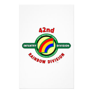 """42ND INFANTRY DIVISION """"RAINBOW"""" STATIONERY DESIGN"""