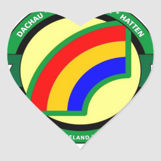 """42ND INFANTRY DIVISION """"RAINBOW"""" HEART STICKERS"""