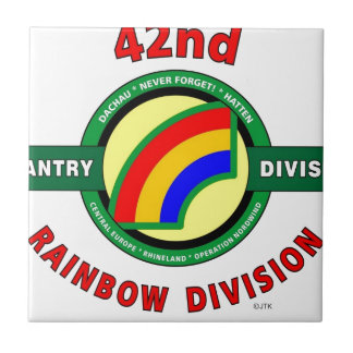"""42ND INFANTRY DIVISION """"RAINBOW"""" CERAMIC TILES"""