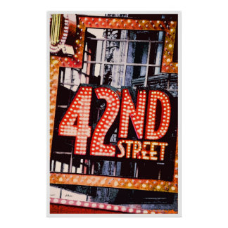 42nd Street, contemporary poster