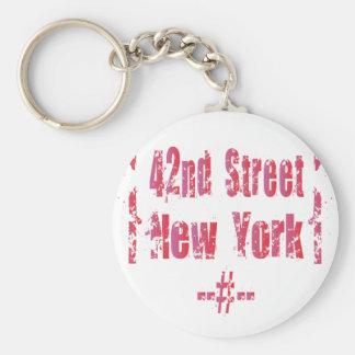 42nd street. keychain
