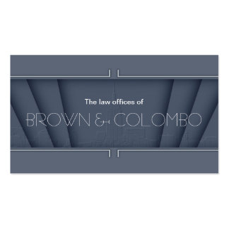 """""""42nd Street"""" - Steel Grey Double-Sided Standard Business Cards (Pack Of 100)"""