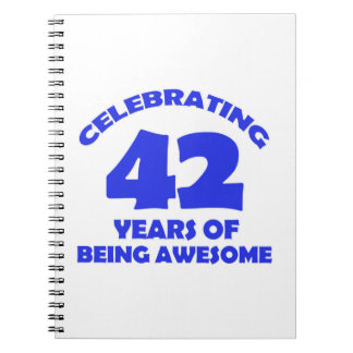 42ND year old designs Notebook