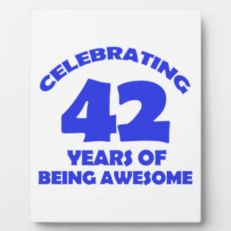 42ND year old designs Photo Plaque