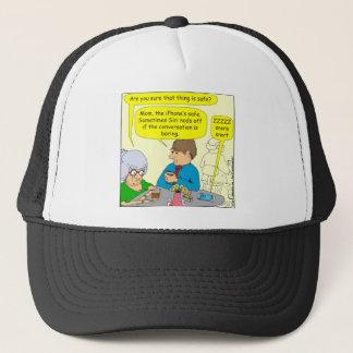 430 Siri nods off Cartoon Trucker Hat